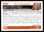 2004 Topps #676  David Aardsma  Back Thumbnail
