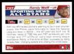 2004 Topps #727   -  Randy Wolf All-Star Back Thumbnail