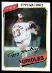 1980 Topps #706  Tippy Martinez  Front Thumbnail
