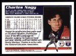 1995 Topps #76  Charles Nagy  Back Thumbnail