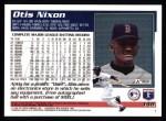 1995 Topps #148  Otis Nixon  Back Thumbnail