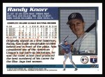 1995 Topps #327  Randy Knorr  Back Thumbnail
