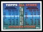 1995 Topps #393   -  Darrin Jackson / Jimmy Key All-Star Back Thumbnail