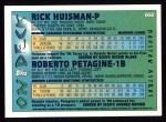 1995 Topps #650  Rick Huisman  Back Thumbnail