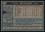 1980 Topps #103  Bill Caudill   Back Thumbnail