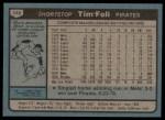1980 Topps #246  Tim Foli    Back Thumbnail