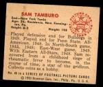 1950 Bowman #49  Sam Tamburo  Back Thumbnail