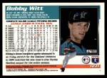 1995 Topps Traded #123 T Bobby Witt  Back Thumbnail