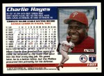 1995 Topps Traded #140 T Charlie Hayes  Back Thumbnail