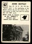 1951 Topps Magic #62  John Dottley  Back Thumbnail