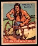 1933 Goudey Indian Gum #212   Making Canoe  Front Thumbnail