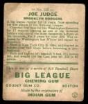 1933 Goudey #155  Joe Judge  Back Thumbnail