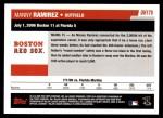 2006 Topps Update #179   -  Manny Ramirez Season Highlights Back Thumbnail
