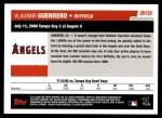 2006 Topps Update #180   -  Vladimir Guerrero Season Highlights Back Thumbnail