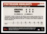 2006 Topps Update #189   -  Kenny Rogers Postseason Highlights Back Thumbnail