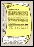 1988 Pacific Legends #76  Hoyt Wilhelm  Back Thumbnail