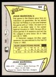 1988 Pacific Legends #54  Juan Marichal  Back Thumbnail