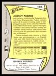 1988 Pacific Legends #105  Johnny Podres  Back Thumbnail