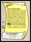 1988 Pacific Legends #2  Red Schoendienst  Back Thumbnail