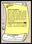 1988 Pacific Legends #66  Jerry Koosman  Back Thumbnail