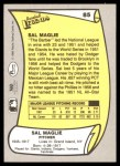 1988 Pacific Legends #85  Sal Maglie  Back Thumbnail