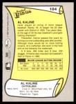 1988 Pacific Legends #104  Al Kaline  Back Thumbnail