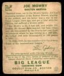 1934 Goudey #59  Joe Mowry  Back Thumbnail