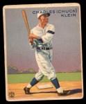 1933 Goudey #128  Chuck Klein  Front Thumbnail