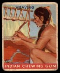 1933 Goudey Indian Gum #155  Weaving   Front Thumbnail