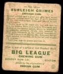 1933 Goudey #64  Burleigh Grimes  Back Thumbnail
