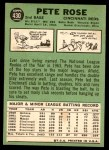 1967 Topps #430  Pete Rose  Back Thumbnail
