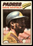 1977 Topps Cloth Stickers #52  Dave Winfield  Front Thumbnail