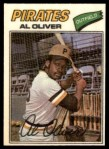 1977 Topps Cloth Stickers #34  Al Oliver  Front Thumbnail