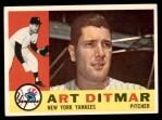1960 Topps #430  Art Ditmar  Front Thumbnail