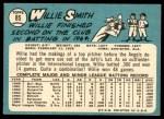 1965 Topps #85  Willie Smith  Back Thumbnail
