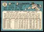1965 Topps #165  Dick Ellsworth  Back Thumbnail