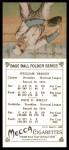 1911 T201 Mecca Reprint #48  Zach Wheat / Bill Bergen  Back Thumbnail