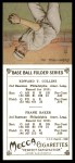 1911 T201 Mecca Reprint #9  Eddie Collins  /  Home Run Baker  Back Thumbnail