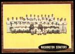 1962 Topps #206   Senators Team Front Thumbnail