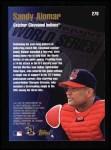 1998 Topps #278   -  Sandy Alomar Jr. World Series Back Thumbnail