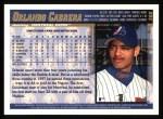 1998 Topps #366  Orlando Cabrera  Back Thumbnail