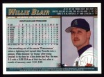 1998 Topps #423  Willie Blair  Back Thumbnail