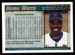 1998 Topps #457  Devon White  Back Thumbnail