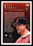 1998 Topps #478   -  Mark McGwire Season Highlights Back Thumbnail