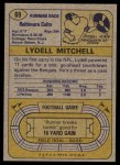 1974 Topps #69  Lydell Mitchell  Back Thumbnail