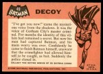 1966 Topps Batman Black Bat #49   Decoy Back Thumbnail