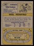 1974 Topps #106  Mel Renfro  Back Thumbnail