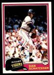 1981 Topps #417  Dan Schatzeder  Front Thumbnail