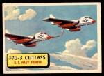 1957 Topps Planes #3 BLU  F7u-3 Cutlass Front Thumbnail