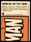 1966 Topps Batman Blue Bat Puzzle Back #37   Riddler on the Roof Back Thumbnail